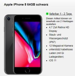 o2 Free M Boost mit 20GB Datenvolumen + Apple iPhone 8 für 34,99 Euro mtl. + einmalig 4,95 Euro