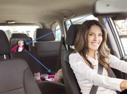 Rücksitzspiegel bzw. Babyspiegel in 300 x 190 x2,8 mm für nur 8,39 Euro