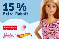15% Rabatt auf Artikel der Marke Mattel bei myToys.de