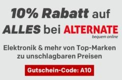 10% Rabatt auf Alles von Alternate bei Rakuten