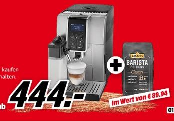 DELONGHI ECAM 350.55.B Dinamica Kaffeevollautomat für 444,- Euro und dazu 6 KG Kaffee gratis