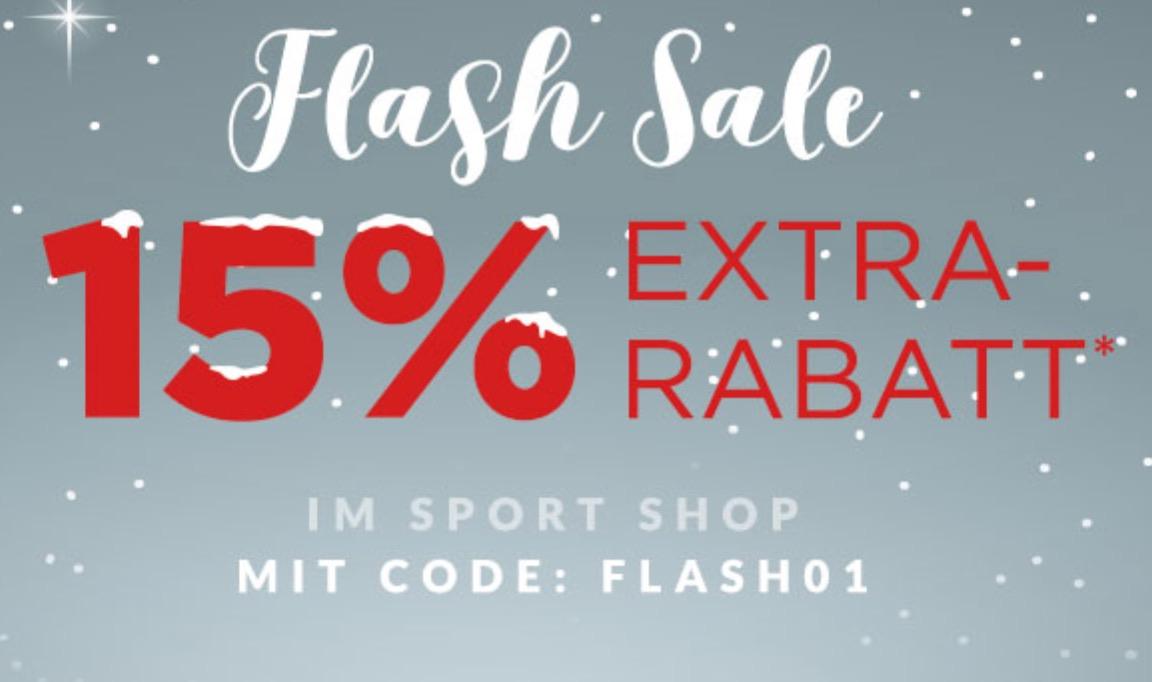 Top! Flash-Sale mit bis zu 15% Extra Rabatt im Sport Shop bei Engelhorn