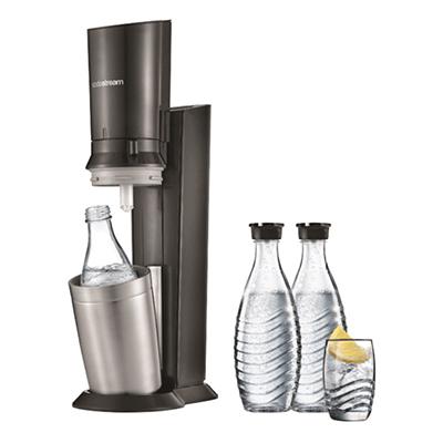SODASTREAM Crystal 2.0 Wassersprudler mit 3 Glaskaraffen für nur 97,- Euro (statt 113,- Euro)