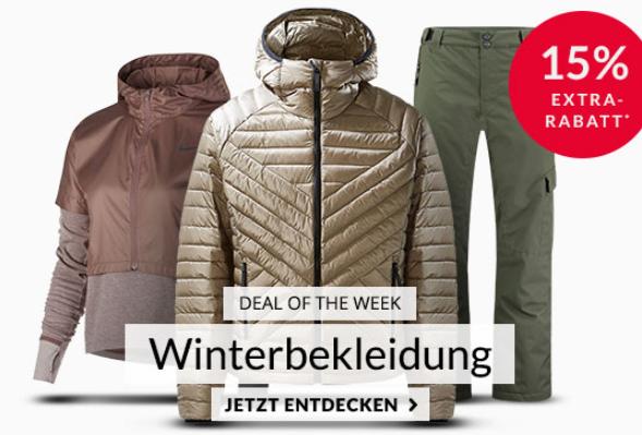 Engelhorn Sports Weekly Deal mit 15% Rabatt auf ausgewählte Winterbekleidung