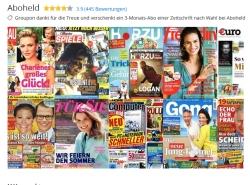 Viele verschiedene 3 bzw. 4-Monats Zeitschriften Abos komplett kostenlos bei Groupon