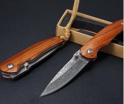 Top: Taschenmesser mit Damastklinge und Holzgriff für nur 9,57 Euro inkl. Versand