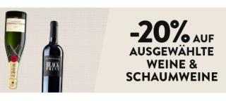 Galeria Dienstagsangebot: 20% Rabatt auf ausgewählte Weine und Schaumweine