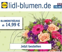 10% Rabatt auf Alles bei Lidl-Blumen ohne Mindestbestellwert
