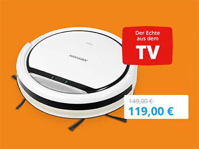 MEDION MD 18500 Saugroboter mit bis zu 90 Minuten Laufzeit für nur 119,- Euro inkl. Versand