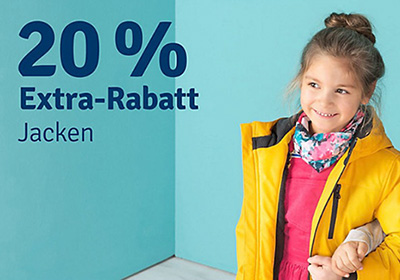 20% Rabatt auf alle Jacken im myToys Onlineshop