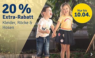 20% Rabatt auf alle Kleider, Röcke und Hosen bei myToys