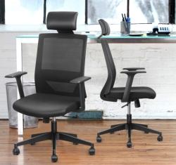 Amzdeal Bürostuhl mit Wippfunktion und einstellbarer Kopfstütze für 89,69 Euro