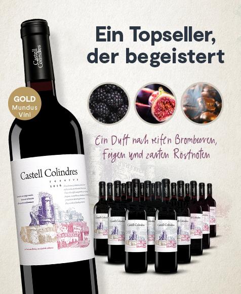 Vinos.de Monatsangebot – 18 Flaschen Castell Colindres Reserva 2015 für nur 64,90 Euro inkl. Versand oder 10 Flaschen Movial Verdejo 2018 für nur 59,90 Euro inkl. Versand