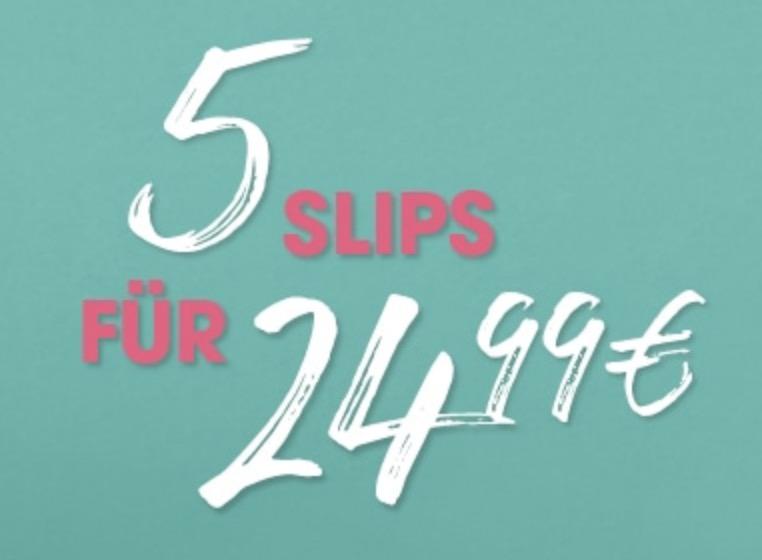 Wieder da: 5 Slips für nur 24,99 Euro im Hunkemöller Onlineshop
