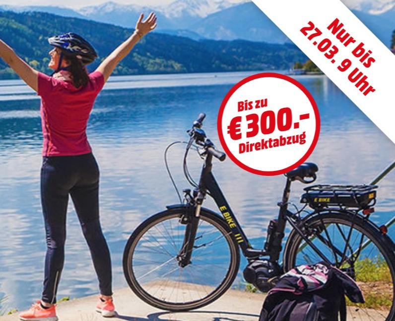 E-Bikes bei Media Markt: Bis zu 300,- billiger und mit kostenlosem Versand