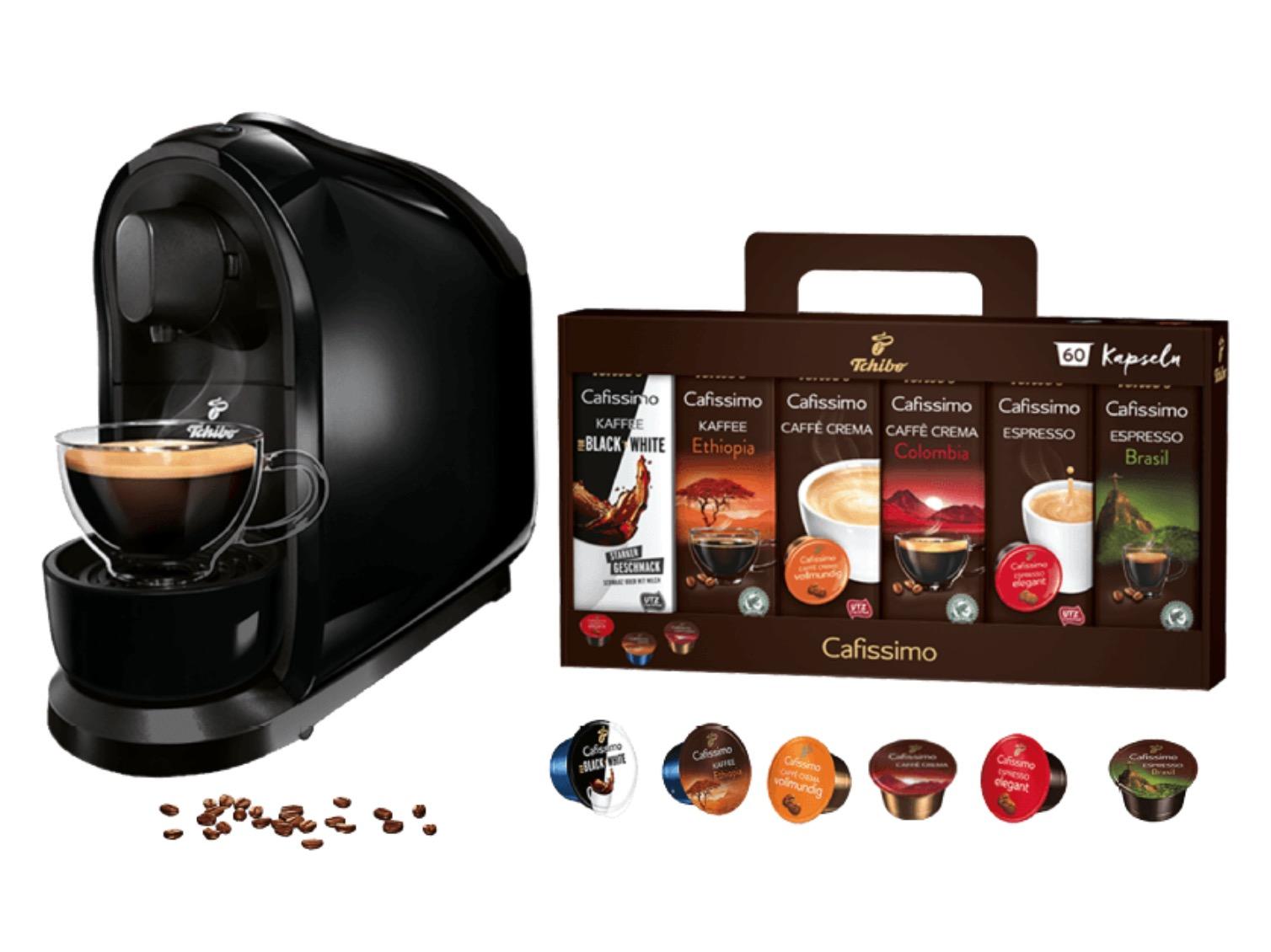 TCHIBO Cafissimo Pure Kapselmaschine in verschiedenen Farben + 60 Kapseln für nur 39€ inkl. Versand