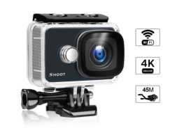 SHOOT 4K Wi-Fi Action Camera mit Fernbedienung für 37,79 Euro