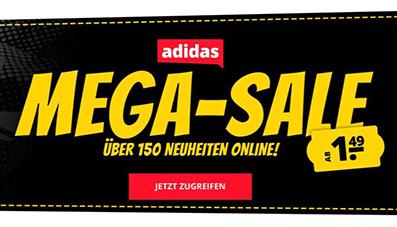 Adidas Megasale bei SportSpar mit bis zu 80% Rabatt