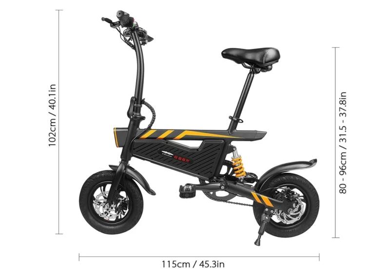 faltbares e bike ziyoujiguang t18 mit 12 bereifung und. Black Bedroom Furniture Sets. Home Design Ideas