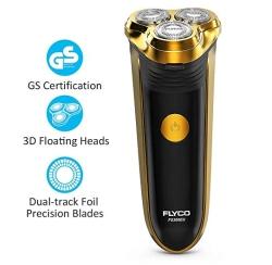 FLYCO Elektro Rasierer mit 3 Scherköpfen für 13,99 Euro inkl. Prime-Versand