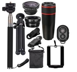 Smartphone Fotozubehör-Set mit Selfie-Stick, Tripod und verschiedenen Objektiv-Aufsätzen für 8,98 Euro