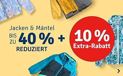 myToys: Großer Jacken & Mäntel Sale mit bis zu 40% Rabatt + 10% Extra-Rabatt
