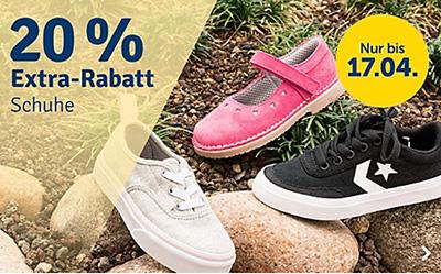 20% Rabatt auf alle Schuhe bei myToys