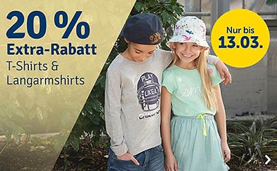 20% Rabatt auf T-Shirts, Langarmshirts & Tops im myToys Onlineshop