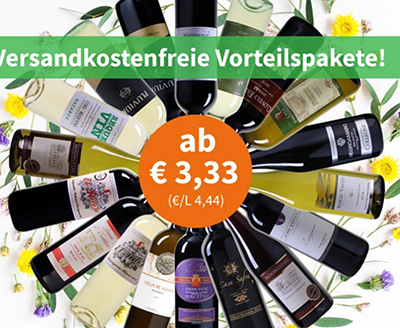 Weinvorteil: 18 verschiedene Weine stark reduziert – ab 3,33 Euro pro Flasche (MBW: 6 Flaschen)