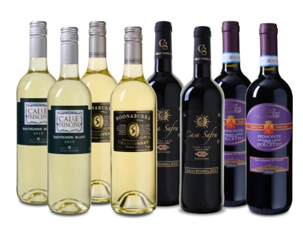 8er-Wein Probierpaket Frühling für nur 39,99 Euro inkl. Versand