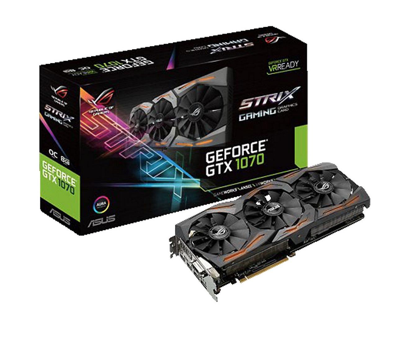 Asus GeForce GTX 1070 Strix ROG 8GB GDDR5 Grafikkarte für nur 319,- Euro inkl. Versand