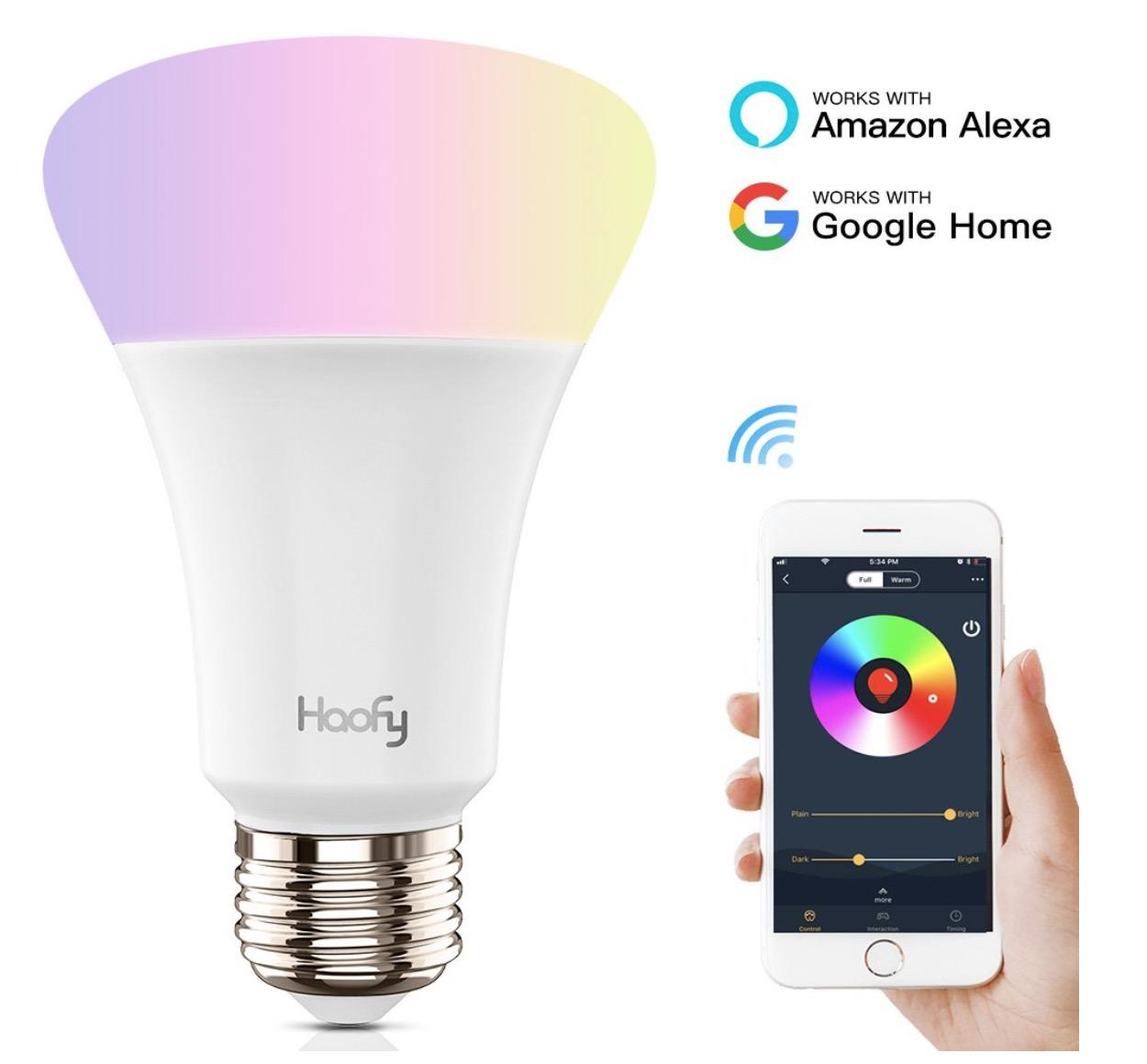 Haofy RGB E27 Smart LED Glühbirne für nur 6,99 Euro