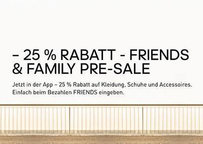 25% Rabatt auf über 5.500 Family & Friends Produkte im Adidas Onlineshop