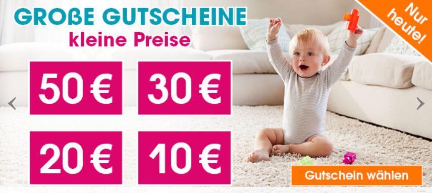 Nur heute: Bis zu 50,- Rabatt auf euren Einkauf im Babymarkt Onlineshop