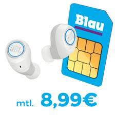 Wieder da: Blau Allnet L mit 3GB Daten für mtl. 8,99 Euro + JBL Free X Kopfhörer für einmalig 39,95 Euro