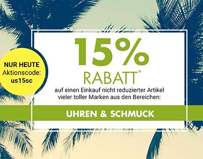 Galeria Kaufhof Tagesangebot: 15% Rabatt auf Uhren & Schmuck
