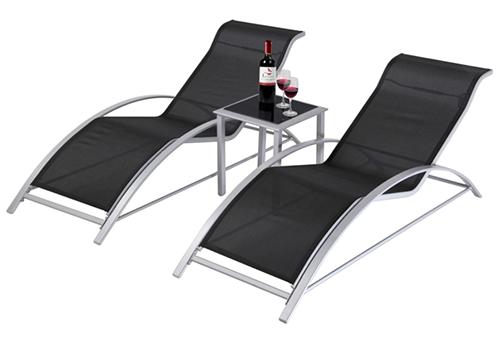 Doppelpack Giardino Aluminiumliegen + Kaffeetisch für nur 89,99 Euro inkl. Versand