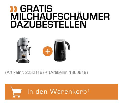 DELONGHI EC 685.BK Dedica Style Espressomaschine mit gratis Milchaufschäumer für nur 158,99 Euro inkl. Versand