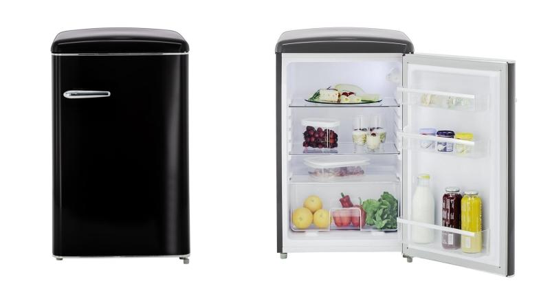 Retro Kühlschrank Schwarz : Exquisit rks rva kühlschrank im matt schwarz retro design