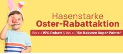 Rakuten OSTER-SALE 2019 mit 15% Sofort-Rabatt auf tausende Artikel und bis zu 15-fach Superpunkte