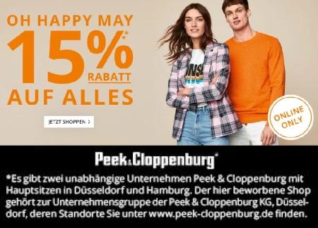 97d5561c4e0d63 Nur 2 Tage lang  15% Rabatt auf Alles bei Peek   Cloppenburg  - Snipz.de
