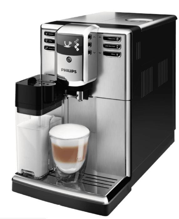 PHILIPS EP5365/10 5000 Kaffeevollautomat (1.8 Liter Wassertank, 15 bar, Edelstahl) für nur 369,- Euro inkl. Versand