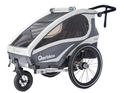 Qeridoo Fahrradanhänger Kidgoo1 2018 für nur 343,90 Euro inkl. Lieferung