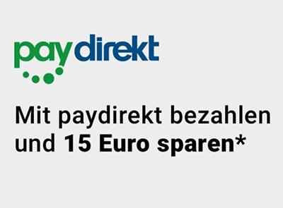 Rakuten: 15,- Euro Rabatt ab 30,- Euro Bestellwert bei Zahlung mit Paydirekt
