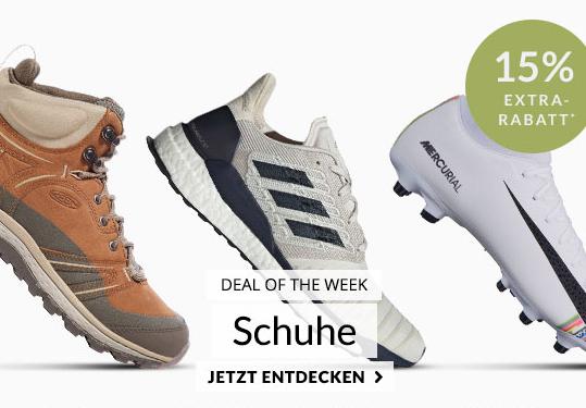 Engelhorn Sport Weekly Deal mit 15% Rabatt auf Sport und Wanderschuhe