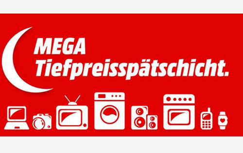 Mega Tiefpreisspätschicht bei Media Markt mit vielen Angeboten aus dem gesamten Sortiment
