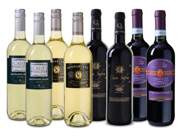 Wein Probierpaket Frühling mit 8 Flaschen (4 Weiß- & 4 Rotwein) für nur 39,99 Euro inkl. Versand