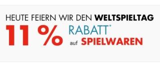 Galeria Dienstagsangebote: 11% Rabatt auf Spielwaren bei Galeria Kaufhof