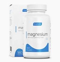 Nupure Magnesium - 180 Magnesium Kapseln mit Magnesiumcitrat