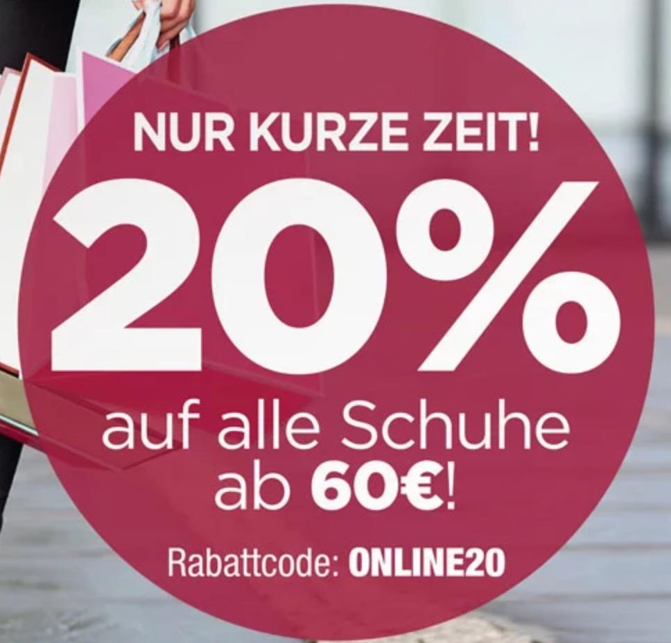 pretty nice 7ceca c7170 20% Rabatt auf alle Schuhe ab 60,- Euro im RENO Onlineshop ...